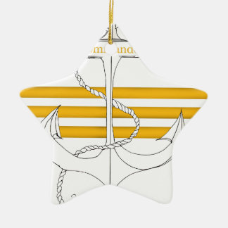gold commander, tony fernandes ceramic ornament