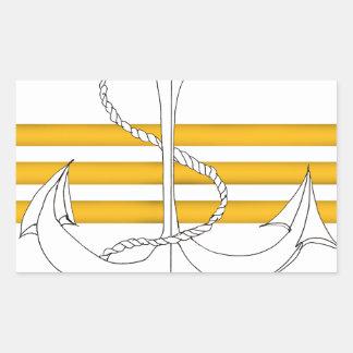 gold commander, tony fernandes rectangular sticker