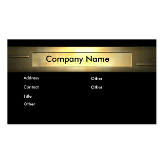 GOLD COMPANY Double-Sided STANDARD BUSINESS CARDS (Pack OF 100)