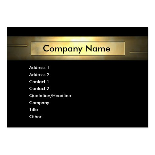 Gold pany Business Card Template