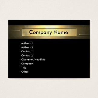 Gold Company Business Card
