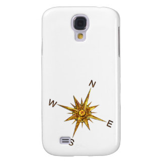 Gold Compass Points Navigation Galaxy S4 Cover