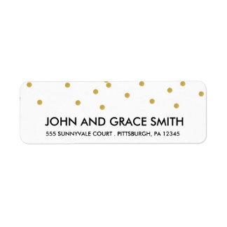 Gold Confetti Address Label
