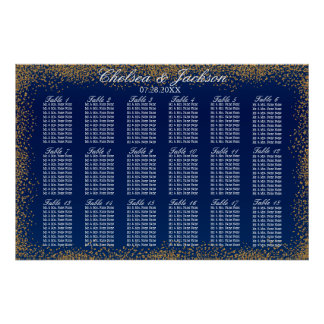 Gold Confetti and Navy Blue -18 Seating Chart