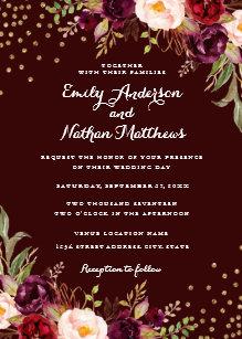 60% off burgundy wedding invitations – Shop Now to Save   Zazzle