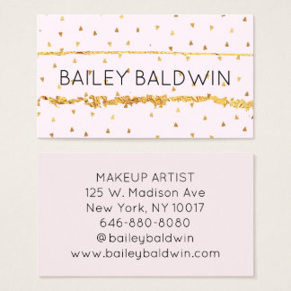 GOLD CONFETTI BUSINESS CARD