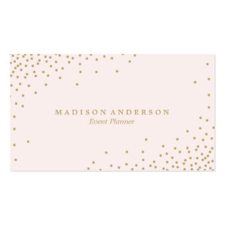 Gold Confetti | Business Cards