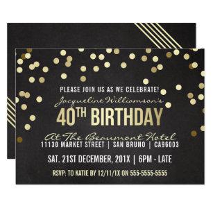 for women 40th birthday invitations zazzle
