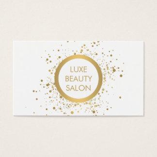 Gold Confetti Circle White Business Card