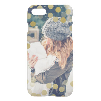 Gold Confetti | Custom Photo iPhone 7 Case