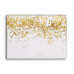 Gold Confetti Dots Envelope