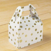 Gold Confetti Dots Favor Box