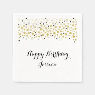 Gold Confetti Dots Paper Napkin