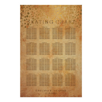 Gold Confetti Dots | Vintage - Seating Chart