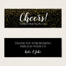 Gold Confetti Drink Ticket Cards