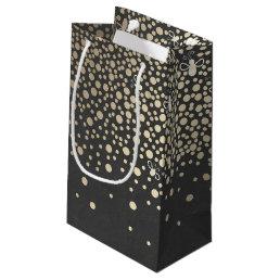Gold Confetti Fireflies Chalkboard Wedding Small Gift Bag