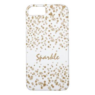 Gold Confetti Glam Glitter Sparkle iPhone 7 Case