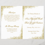 """Gold confetti &amp; Glitter folded program<br><div class=""""desc"""">These confetti programs are perfect for modern weddings with an elegant touch.</div>"""