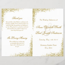 Gold confetti & Glitter folded program