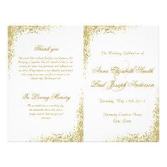 Gold Confetti & Glitter Folded Program Flyer at Zazzle