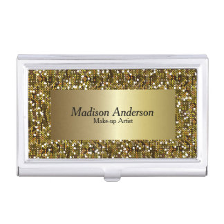 Gold Confetti Glitter Print | DIY Text Business Card Case