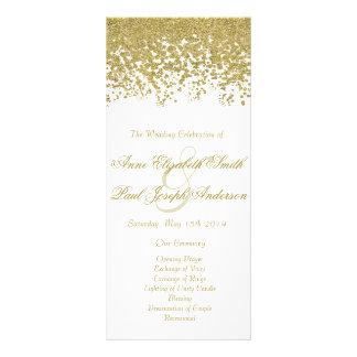 Gold confetti & glitter wedding program III
