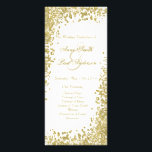"""Gold confetti &amp; glitter wedding program V<br><div class=""""desc"""">These confetti programs are perfect for modern weddings with an elegant touch.</div>"""