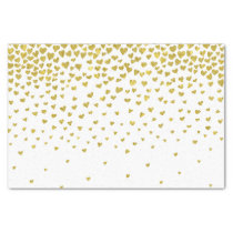 Gold Confetti Hearts Tissue Paper
