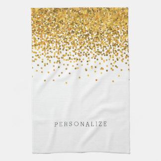 Gold Confetti Kitchen Towel