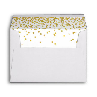 Gold Confetti Lined Envelope