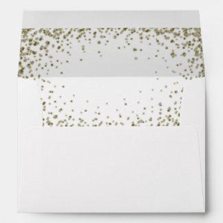 Gold Confetti Look Envelope