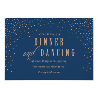 GOLD CONFETTI NAVY AND GOLD reception card