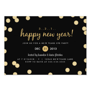 New Years Eve Invitations Zazzle