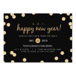 """Gold Confetti New Years Eve Party Invite 5"""" X 7"""" Invitation Card"""
