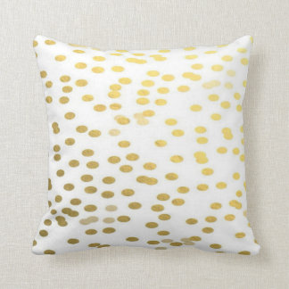 Gold Confetti Polka Dot Holiday Nursery Pillow