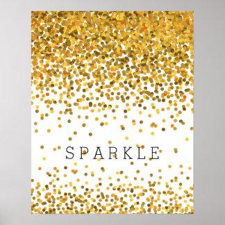 Gold Confetti Sparkle Poster