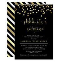 Surprise birthday invitations announcements zazzle gold confetti surprise birthday party invitation filmwisefo Image collections