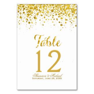 Gold Confetti | Table Card
