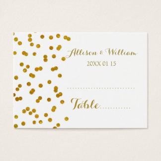 Gold Confetti Table Place Setting Cards