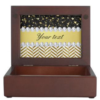 Gold Confetti Triangles Chevrons Diamond Bling Memory Box