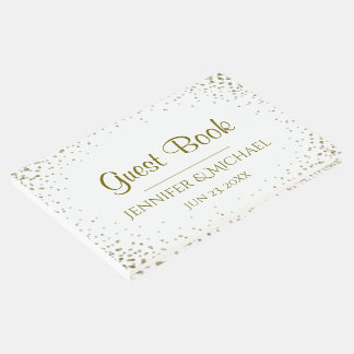 Gold Confetti Wedding Guest Book