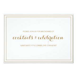 Gold Confetti Wedding Invitation Reception Card
