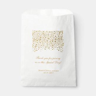 Gold Confetti Wedding  | Personalize Favor Bag