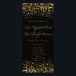 """Gold confetti wedding program black<br><div class=""""desc"""">These confetti programs are perfect for modern weddings with an elegant touch.</div>"""