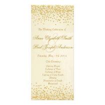 Gold confetti wedding program vintage