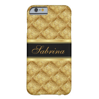 Gold Confetti with Gold Accents Barely There iPhone 6 Case