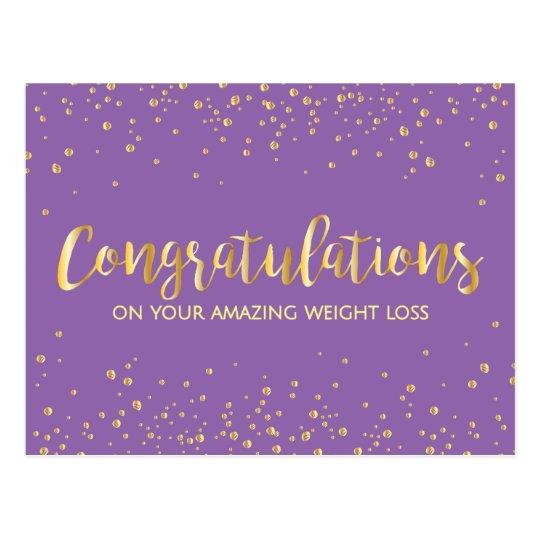 gold congratulations weight loss award certificate