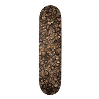 Gold Copper Colored Shiny Rock Texture Background Skateboards
