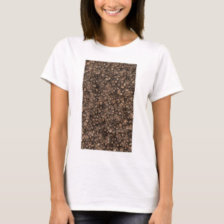 Gold Copper Colored Shiny Rock Texture Background T-Shirt