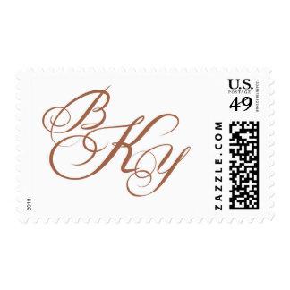 Gold Copper Mono Stamp